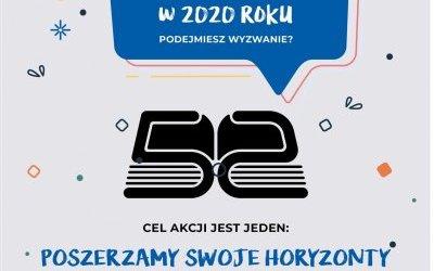 Wyzwanie 52 książki w 2020 roku!
